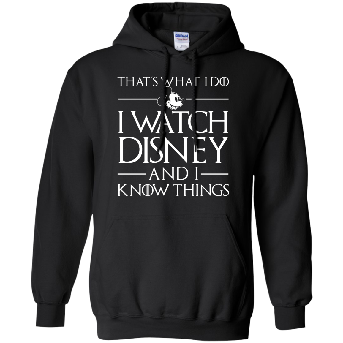 image 858px That's What I Do I Watch Disney and I Know Things T shirt