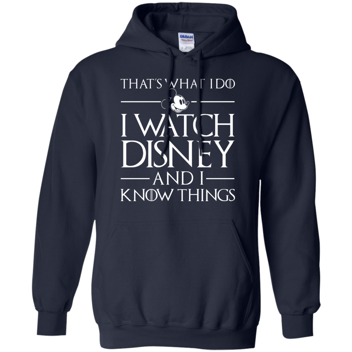 image 859px That's What I Do I Watch Disney and I Know Things T shirt