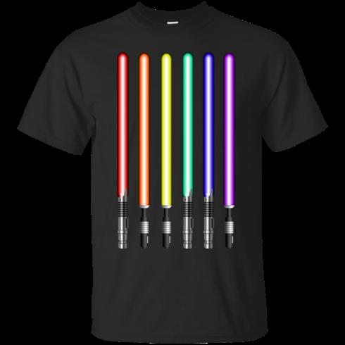 image 875 490x490px Star Wars Lightsaber Rainbow Shirt (Tee Hoodies Tank Top)