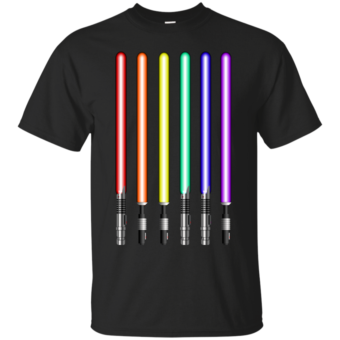 image 875px Star Wars Lightsaber Rainbow Shirt (Tee Hoodies Tank Top)
