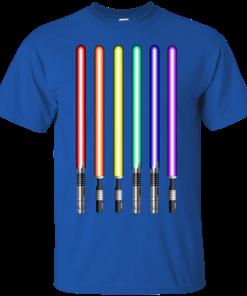image 876 247x296px Star Wars Lightsaber Rainbow Shirt (Tee Hoodies Tank Top)