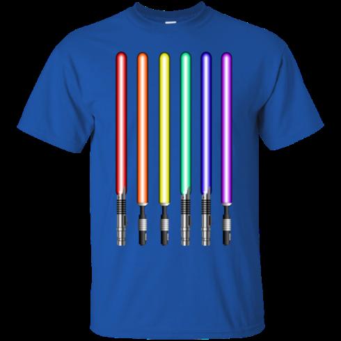 image 876 490x490px Star Wars Lightsaber Rainbow Shirt (Tee Hoodies Tank Top)