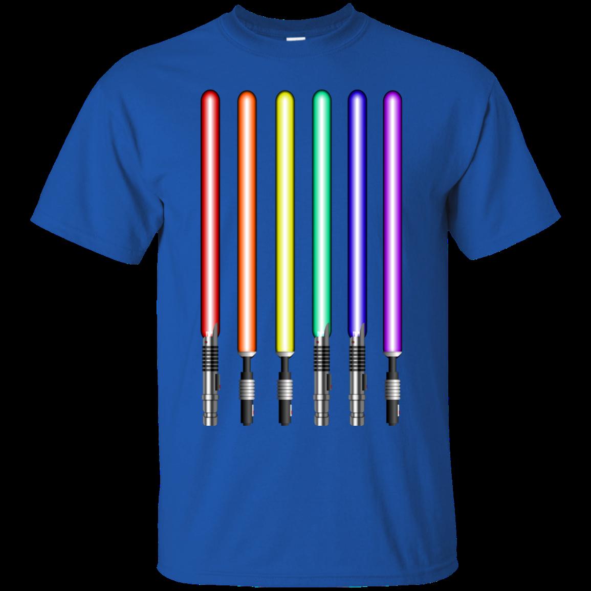 image 876px Star Wars Lightsaber Rainbow Shirt (Tee Hoodies Tank Top)