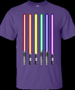 image 877 247x296px Star Wars Lightsaber Rainbow Shirt (Tee Hoodies Tank Top)