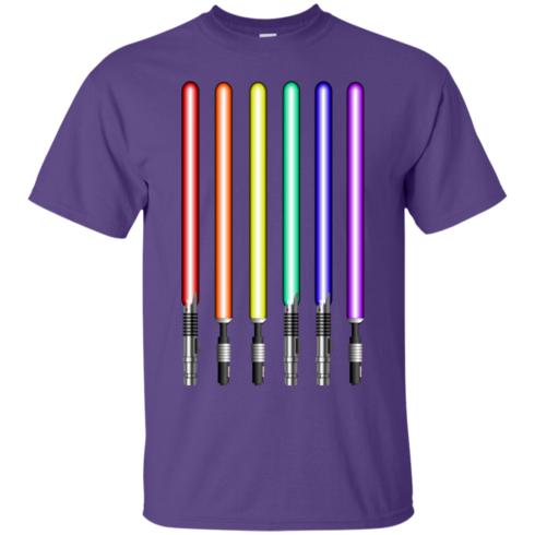 image 877 490x490px Star Wars Lightsaber Rainbow Shirt (Tee Hoodies Tank Top)