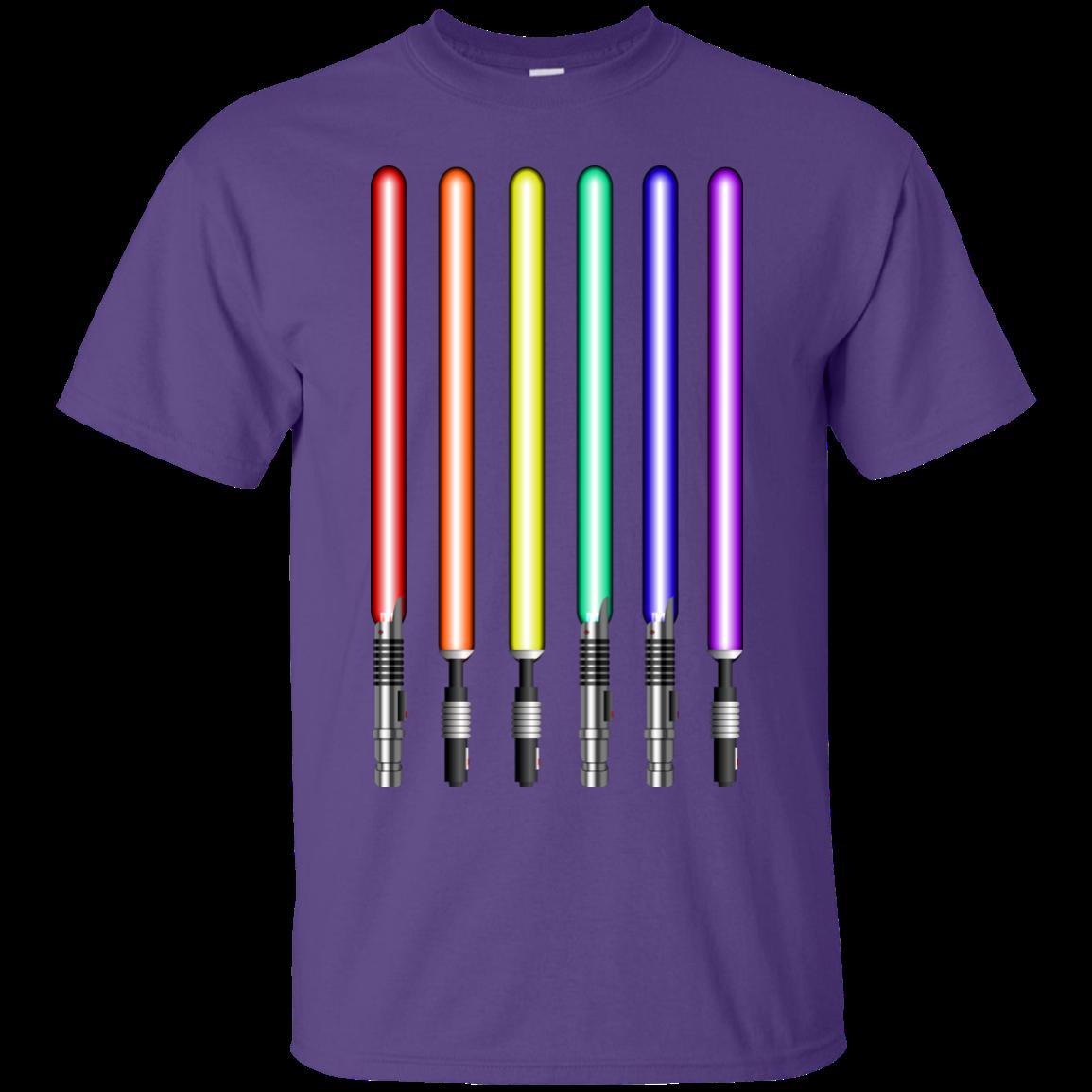 image 877px Star Wars Lightsaber Rainbow Shirt (Tee Hoodies Tank Top)