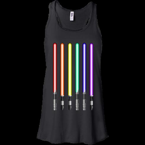 image 878 490x490px Star Wars Lightsaber Rainbow Shirt (Tee Hoodies Tank Top)