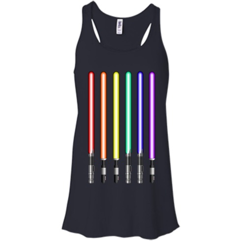 image 879 490x490px Star Wars Lightsaber Rainbow Shirt (Tee Hoodies Tank Top)