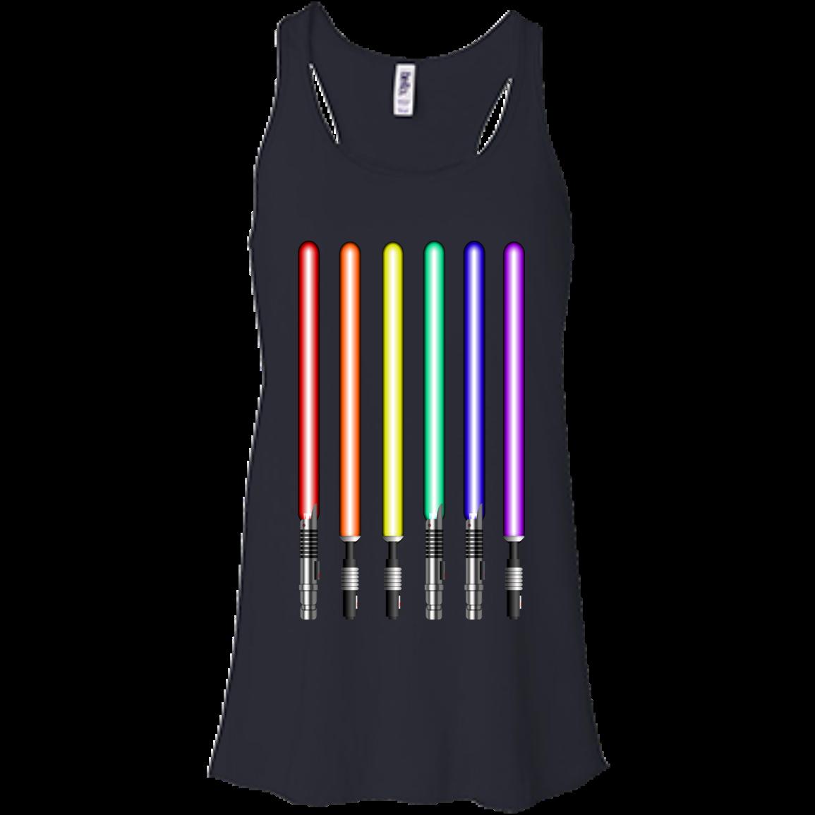 image 879px Star Wars Lightsaber Rainbow Shirt (Tee Hoodies Tank Top)