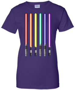 image 884 247x296px Star Wars Lightsaber Rainbow Shirt (Tee Hoodies Tank Top)