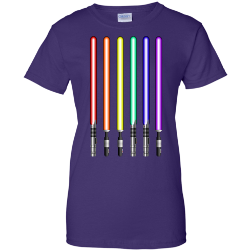 image 884 490x490px Star Wars Lightsaber Rainbow Shirt (Tee Hoodies Tank Top)