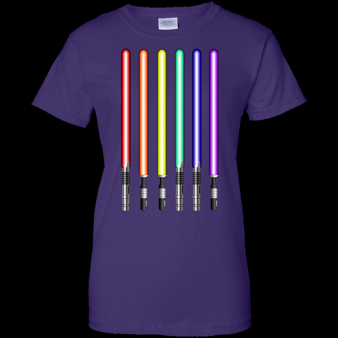 image 884px Star Wars Lightsaber Rainbow Shirt (Tee Hoodies Tank Top)