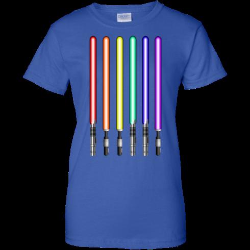 image 885 490x490px Star Wars Lightsaber Rainbow Shirt (Tee Hoodies Tank Top)