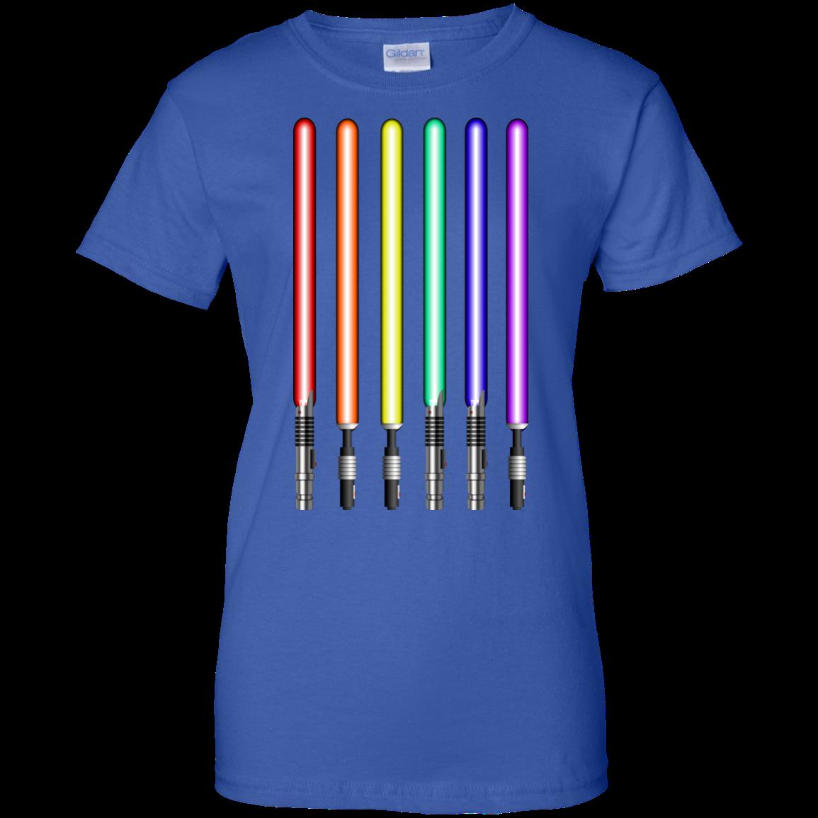 image 885px Star Wars Lightsaber Rainbow Shirt (Tee Hoodies Tank Top)
