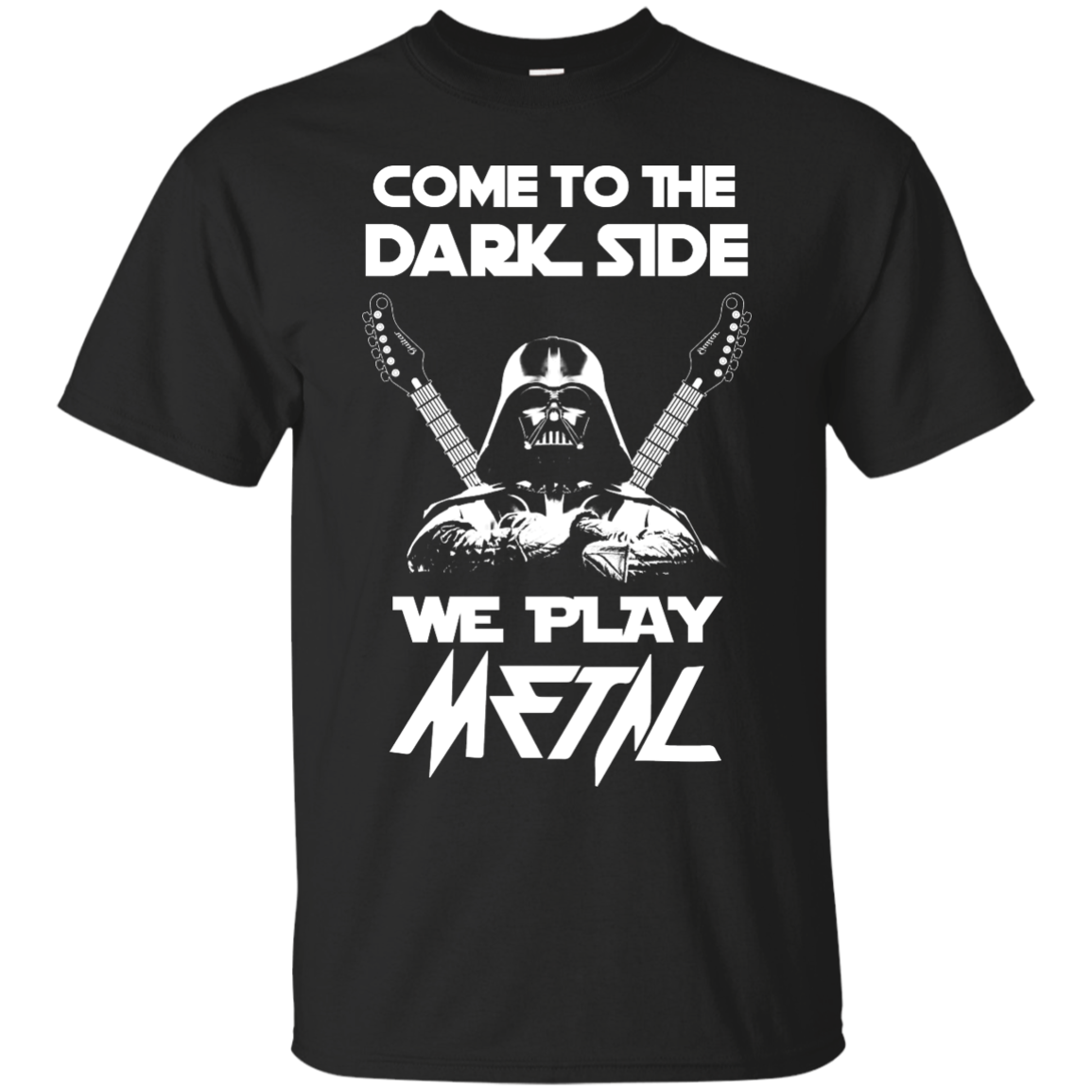 image 886px Star Wars: Come To The Dark Side We Play Metal T Shirt