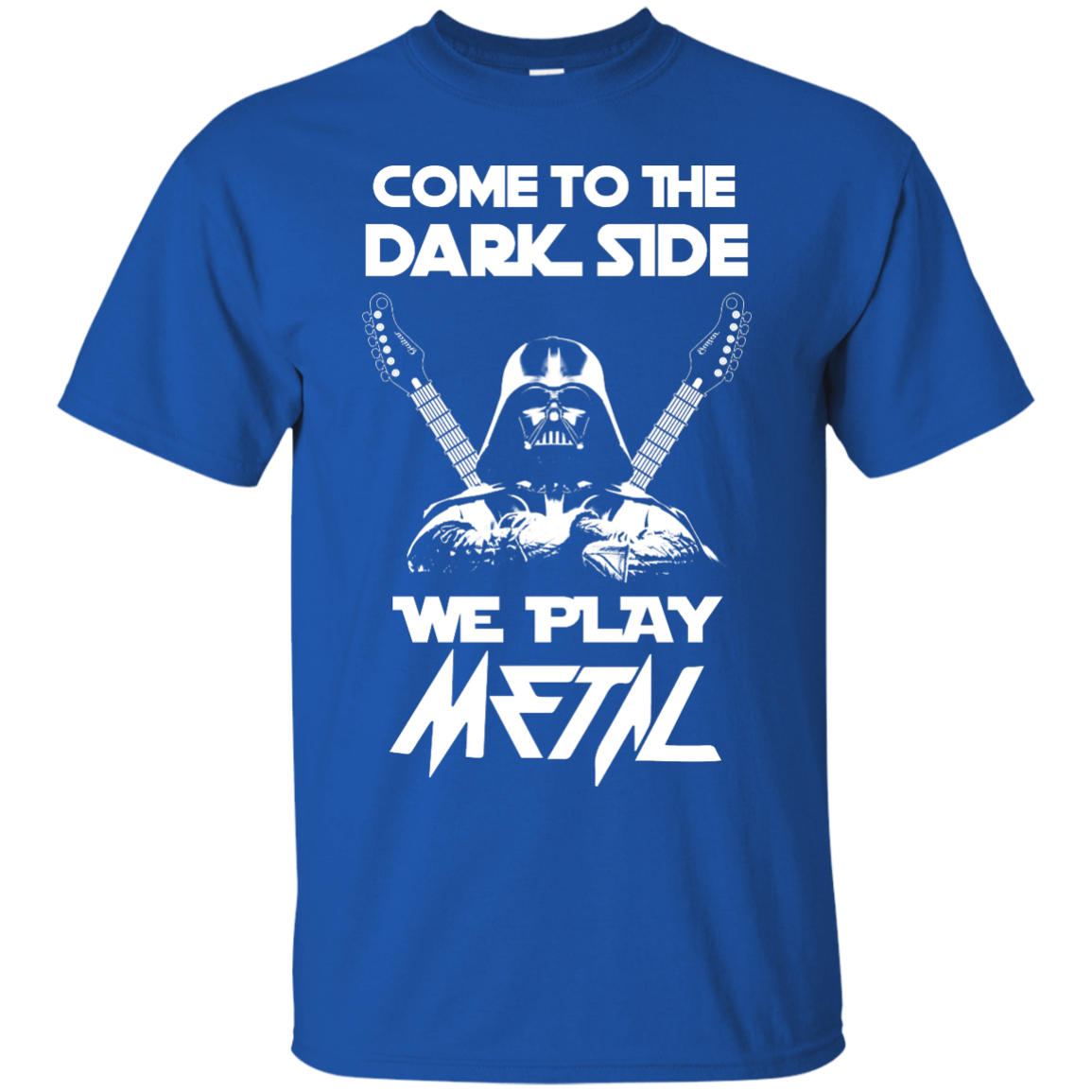 image 887px Star Wars: Come To The Dark Side We Play Metal T Shirt