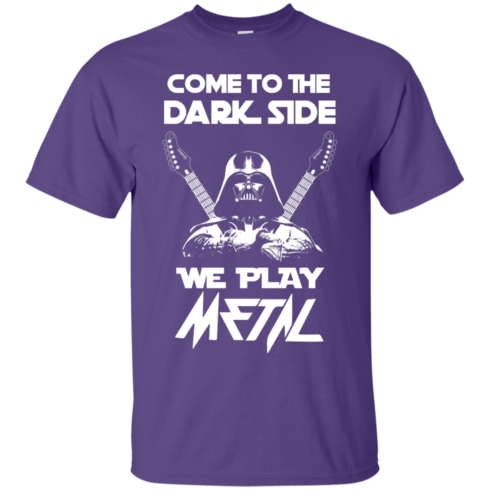 image 888 490x490px Star Wars: Come To The Dark Side We Play Metal T Shirt