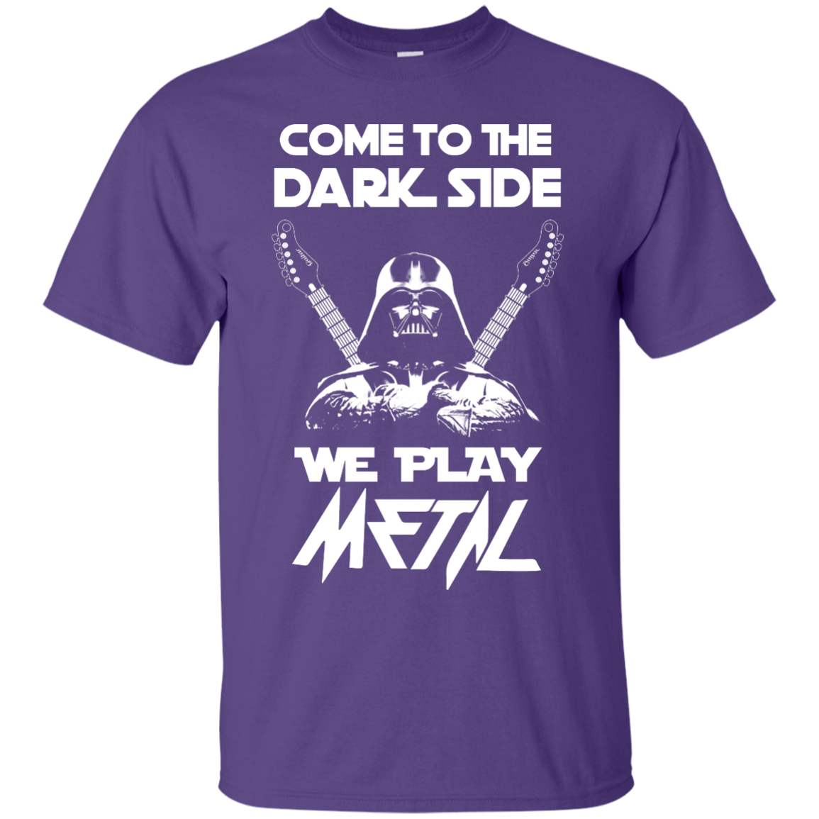 image 888px Star Wars: Come To The Dark Side We Play Metal T Shirt