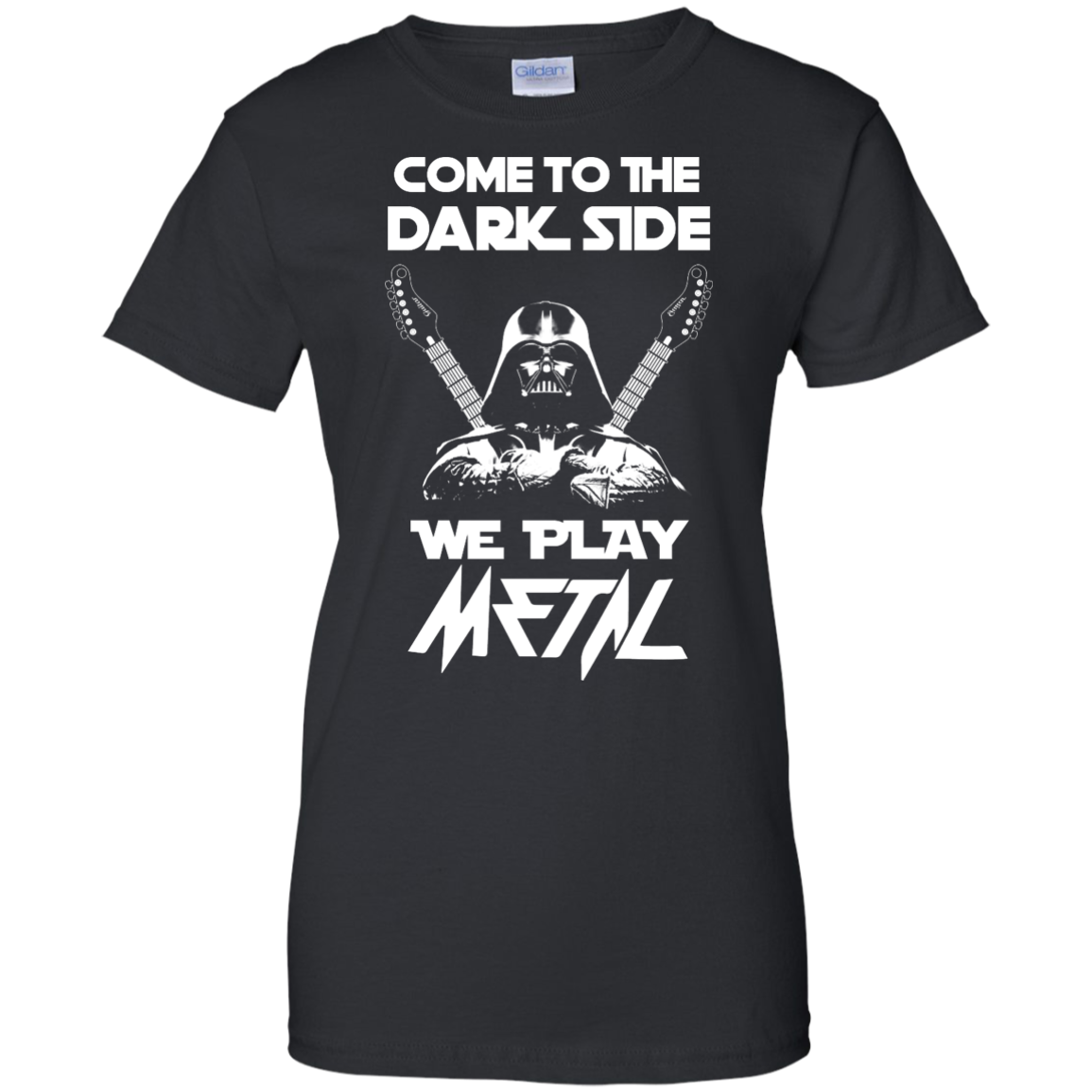 image 894px Star Wars: Come To The Dark Side We Play Metal T Shirt