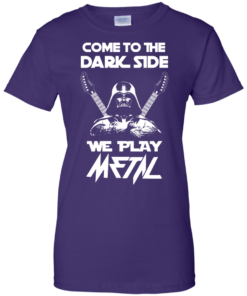 image 895 247x296px Star Wars: Come To The Dark Side We Play Metal T Shirt