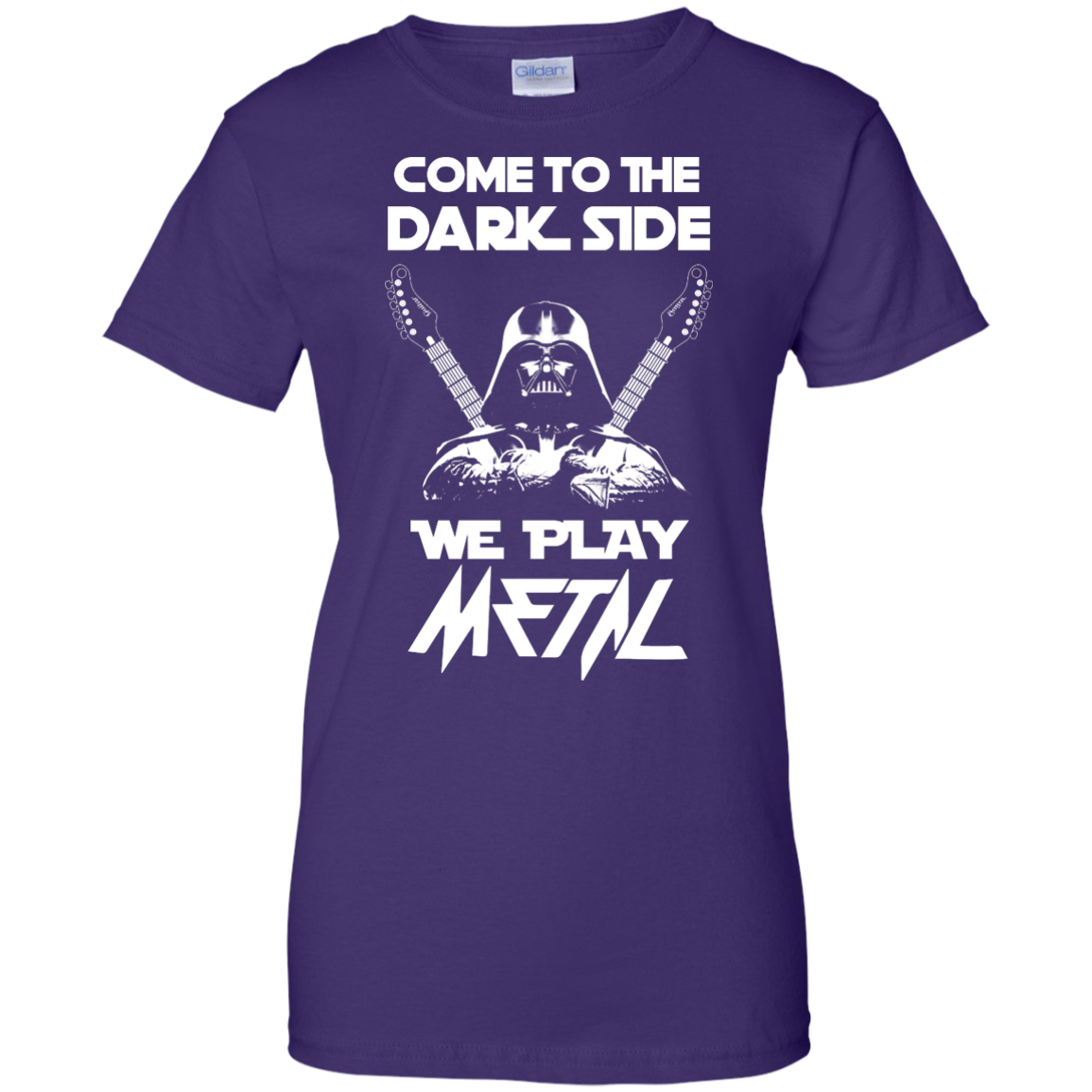 image 895px Star Wars: Come To The Dark Side We Play Metal T Shirt