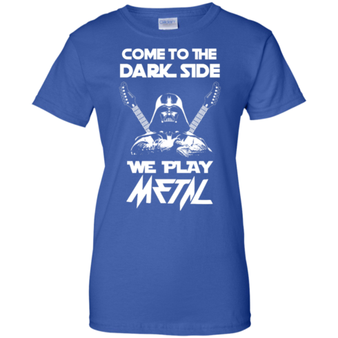 image 896 490x490px Star Wars: Come To The Dark Side We Play Metal T Shirt