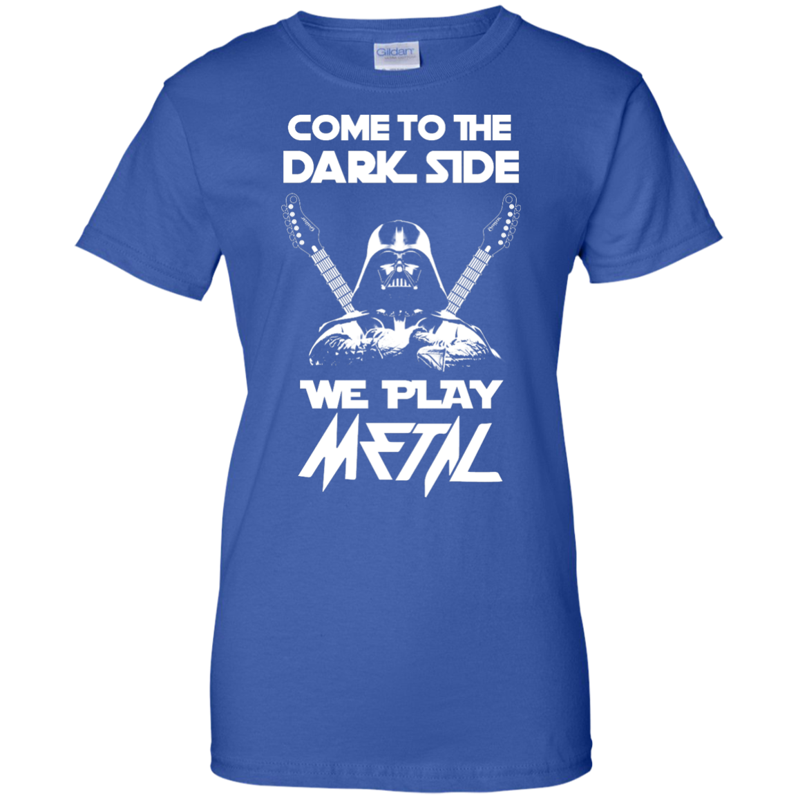 image 896px Star Wars: Come To The Dark Side We Play Metal T Shirt