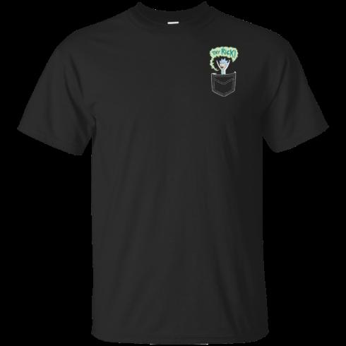image 897 490x490px Rick and Morty: Tiny Rick Pocket T Shirt
