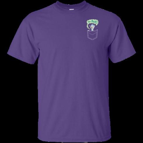 image 898 490x490px Rick and Morty: Tiny Rick Pocket T Shirt
