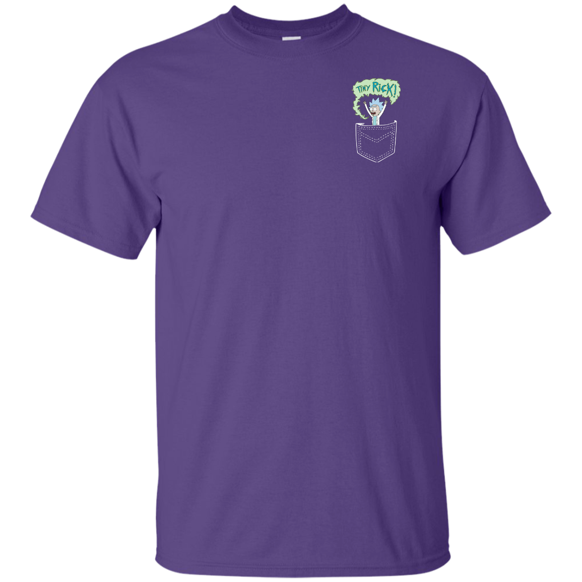 image 898px Rick and Morty: Tiny Rick Pocket T Shirt