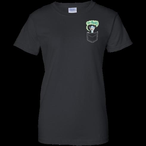 image 905 490x490px Rick and Morty: Tiny Rick Pocket T Shirt