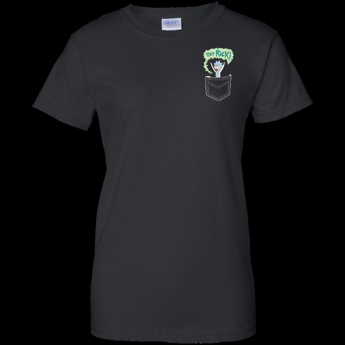 image 905px Rick and Morty: Tiny Rick Pocket T Shirt