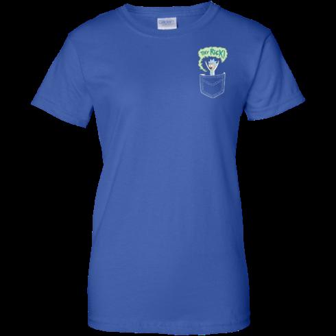 image 907 490x490px Rick and Morty: Tiny Rick Pocket T Shirt