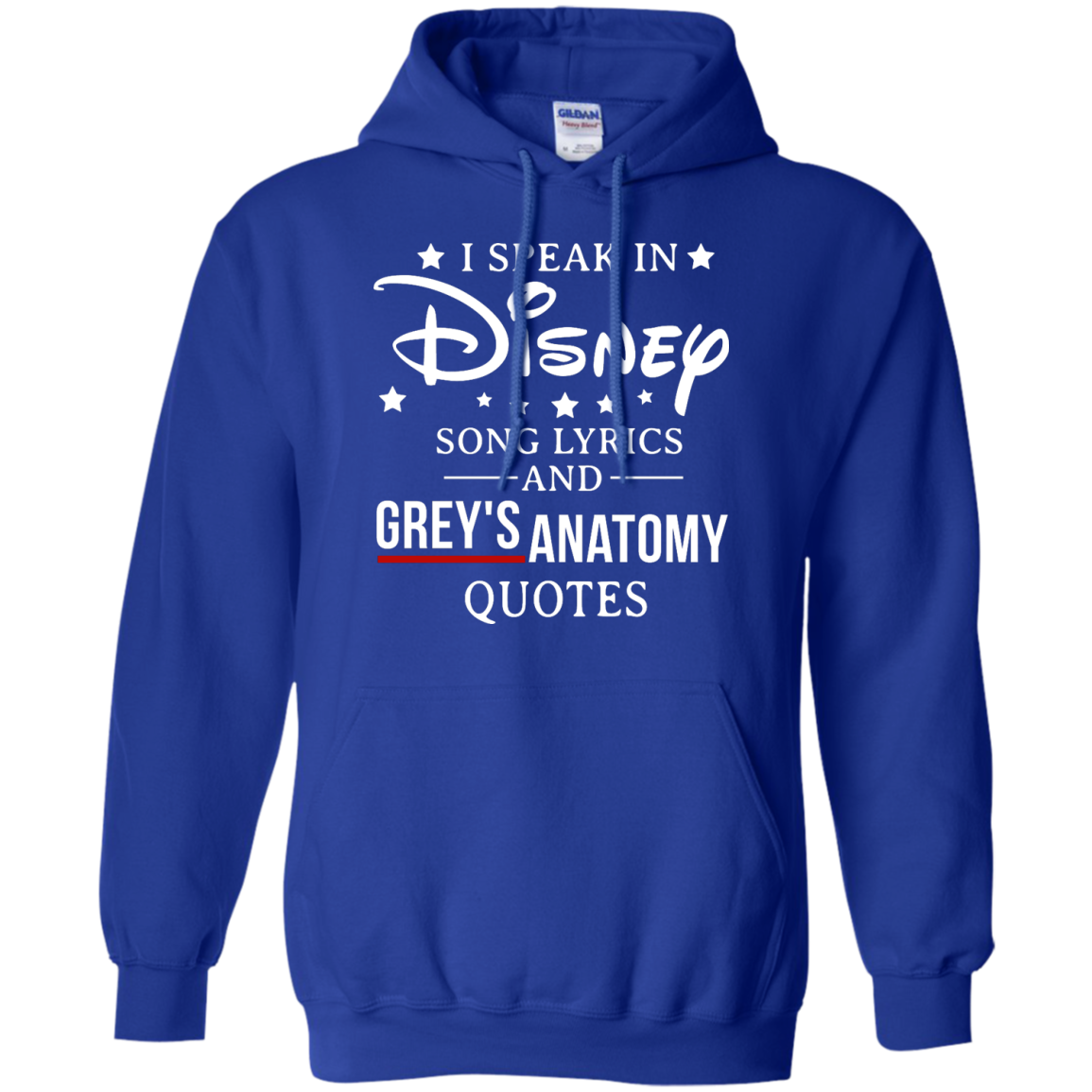 image 939px I speak in Disney song lyrics and Grey's Anatomy quotes T Shirt