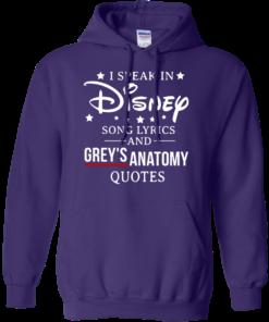image 940 247x296px I speak in Disney song lyrics and Grey's Anatomy quotes T Shirt