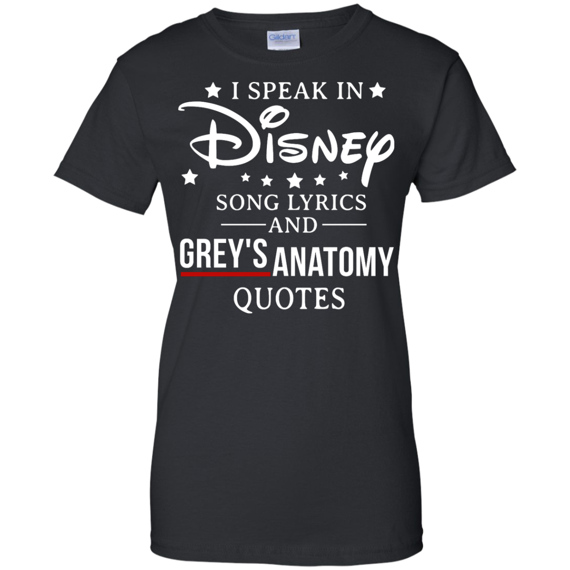 image 941px I speak in Disney song lyrics and Grey's Anatomy quotes T Shirt