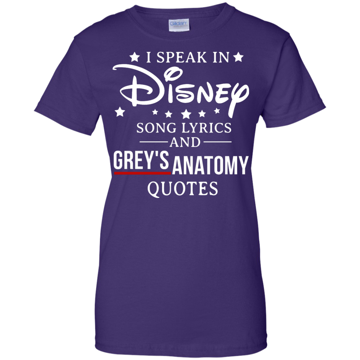 image 942px I speak in Disney song lyrics and Grey's Anatomy quotes T Shirt