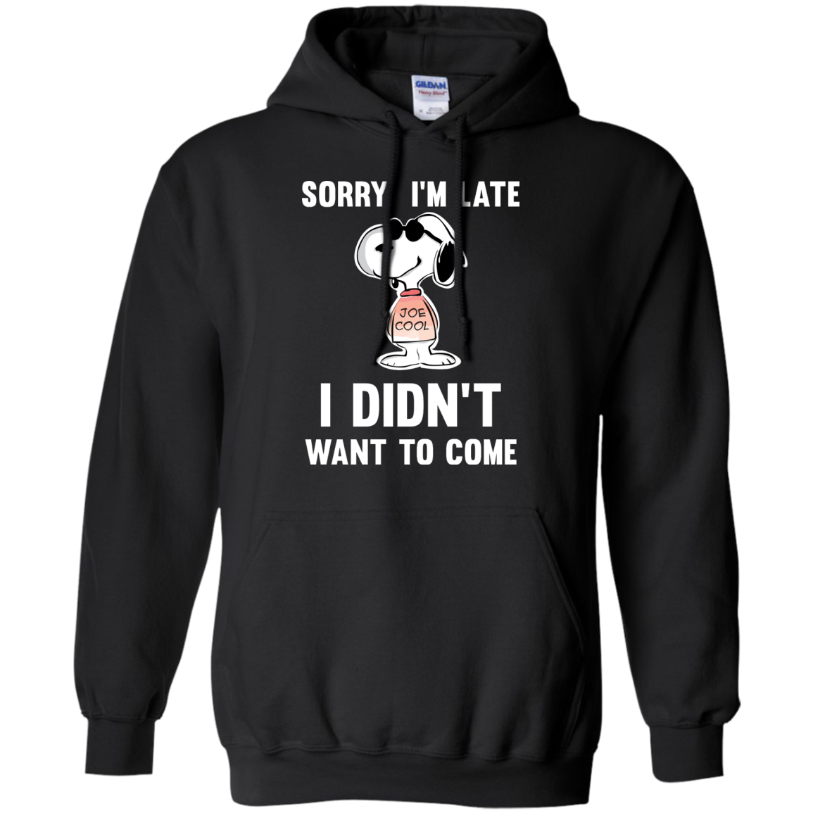 image 960px Peanuts Snoopy: Sorry I'm Late I Didn't Want To Come T Shirt
