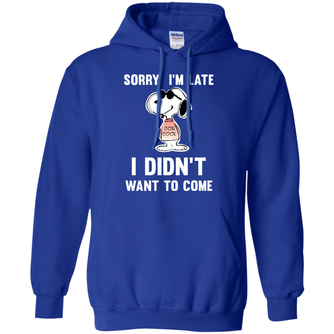 image 961px Peanuts Snoopy: Sorry I'm Late I Didn't Want To Come T Shirt