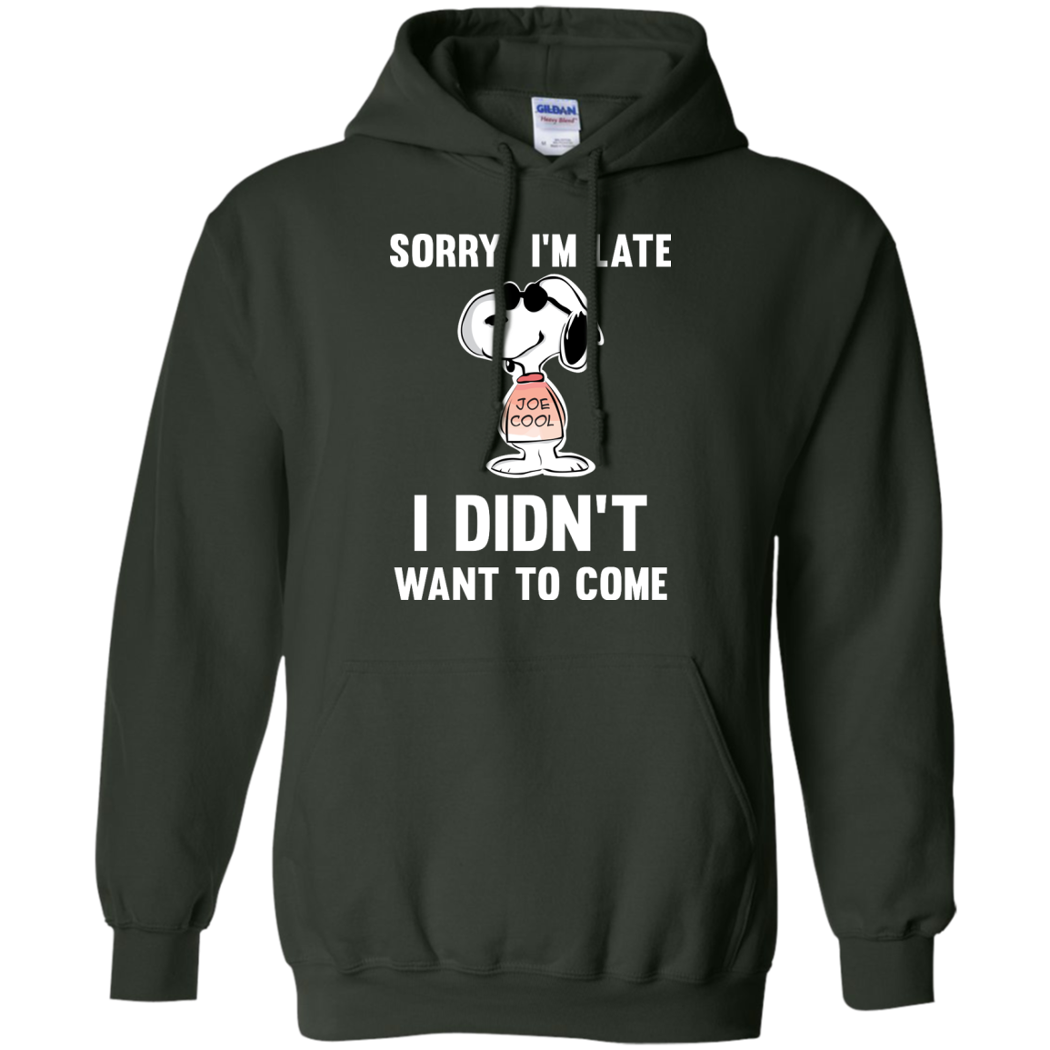 image 962px Peanuts Snoopy: Sorry I'm Late I Didn't Want To Come T Shirt