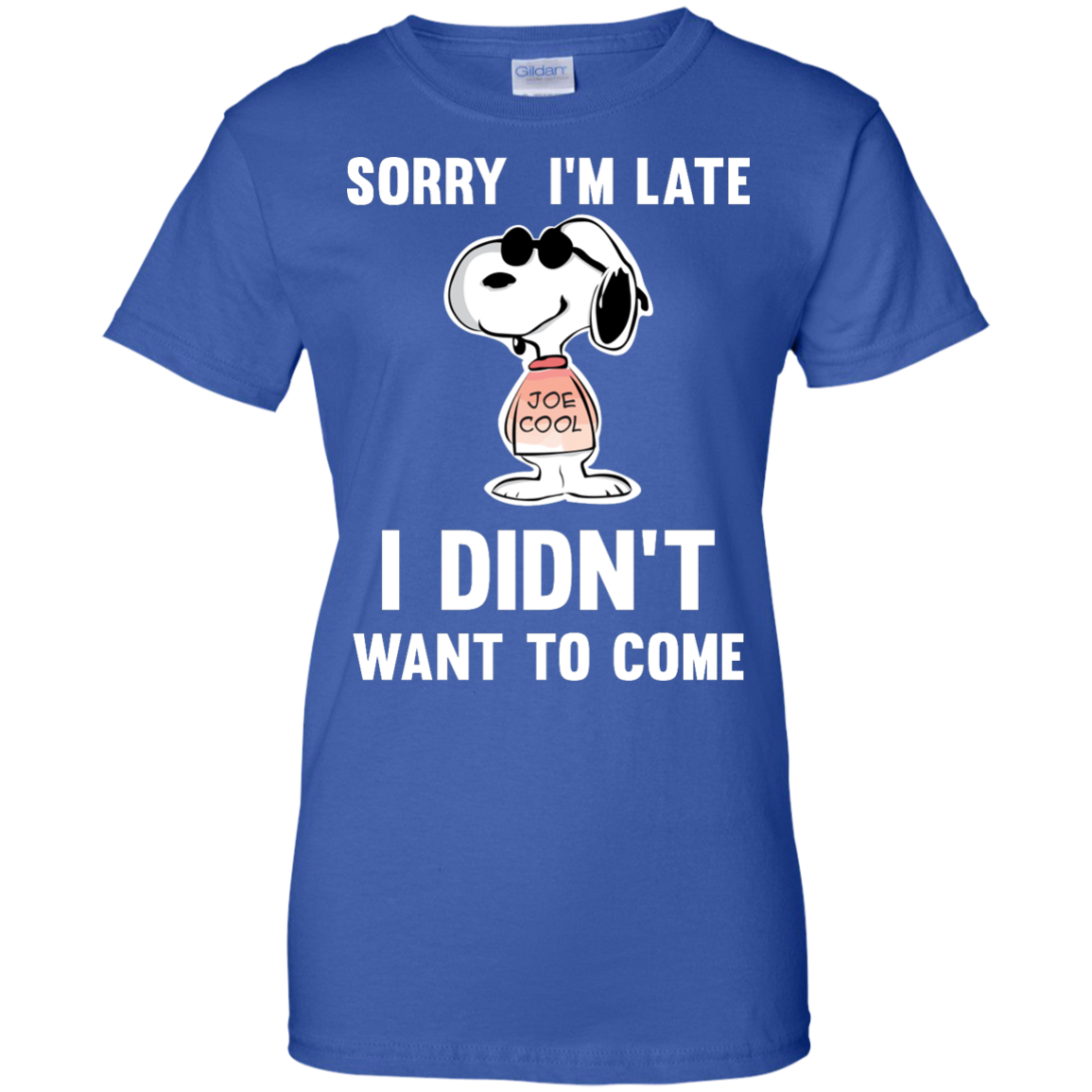 image 965px Peanuts Snoopy: Sorry I'm Late I Didn't Want To Come T Shirt