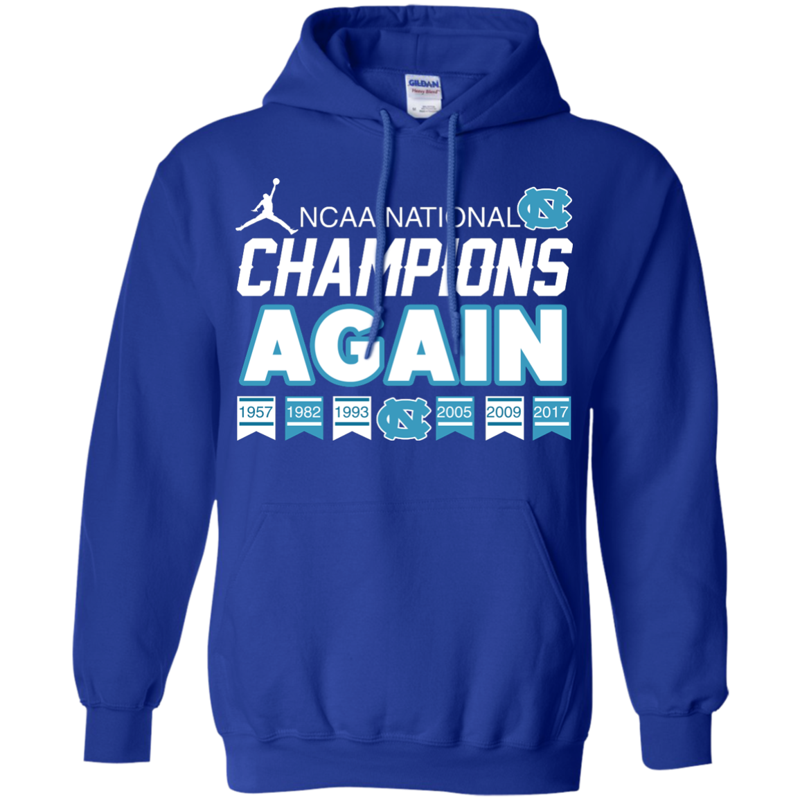 image 110px UNC 2017 Champions Again T Shirts & Hoodies