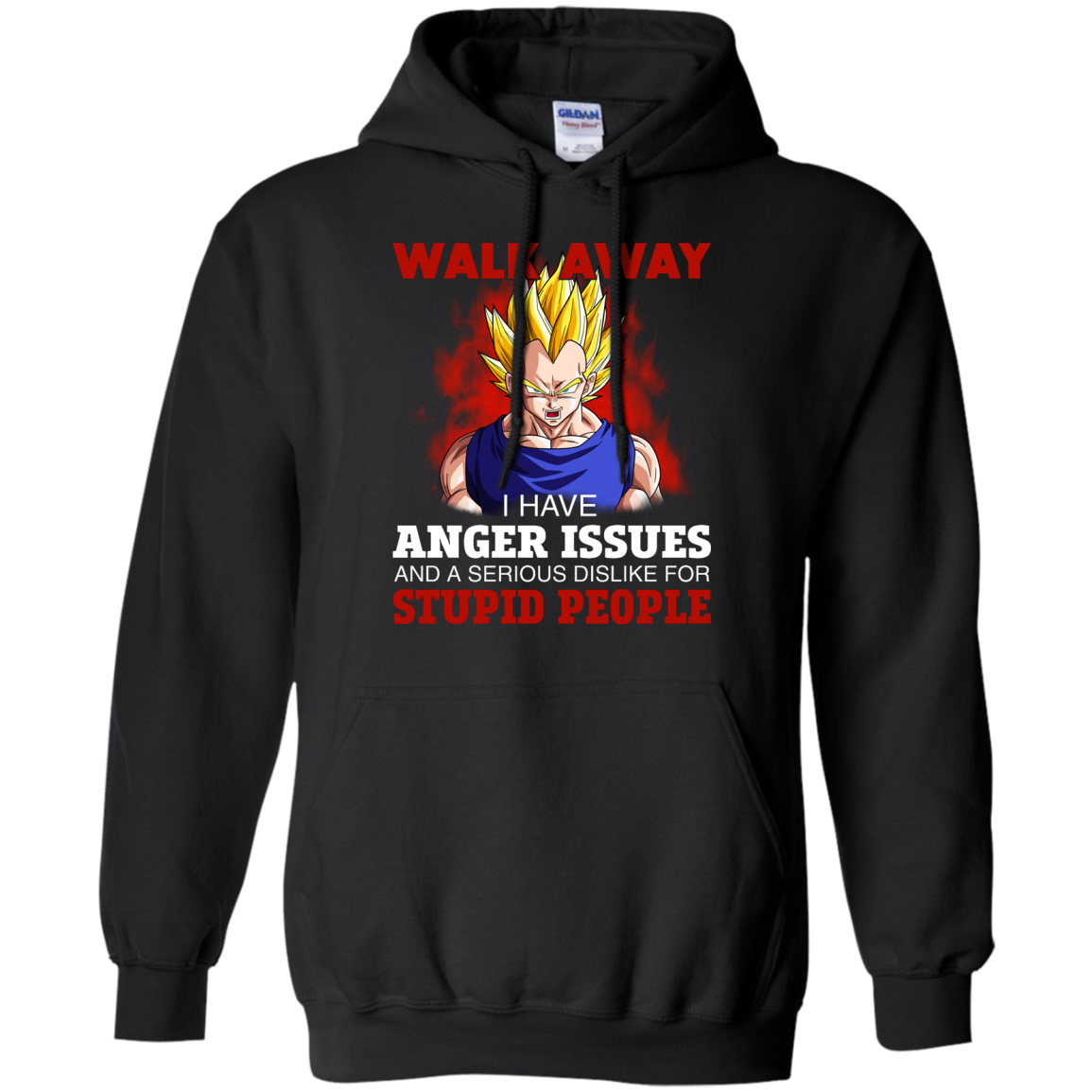 image 120px Dbz Vegeta: Walk Away I Have Anger Issues and A Serious Dislike T Shirt