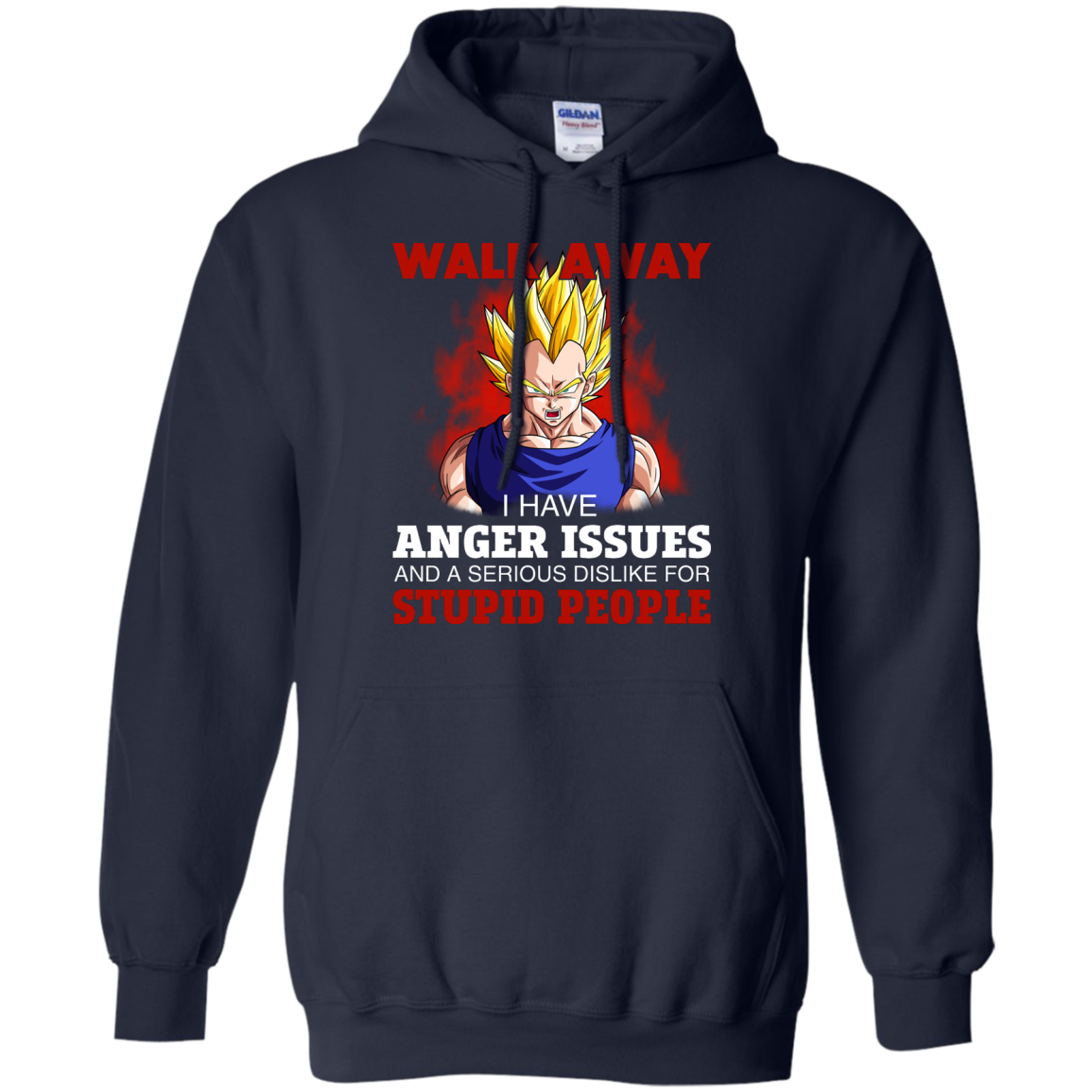 image 121px Dbz Vegeta: Walk Away I Have Anger Issues and A Serious Dislike T Shirt