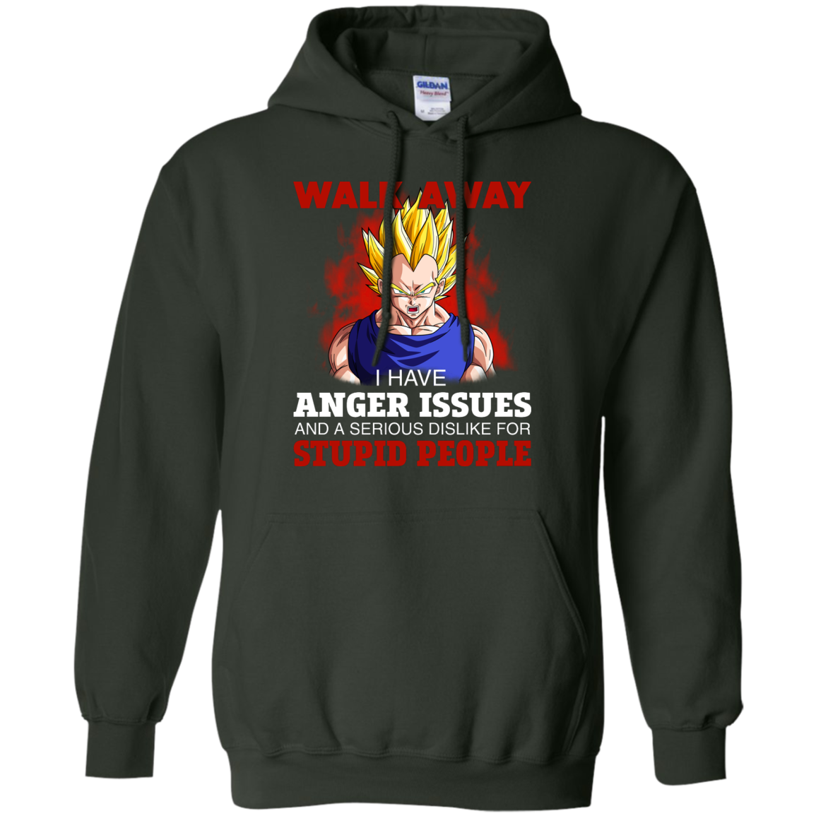 image 122px Dbz Vegeta: Walk Away I Have Anger Issues and A Serious Dislike T Shirt