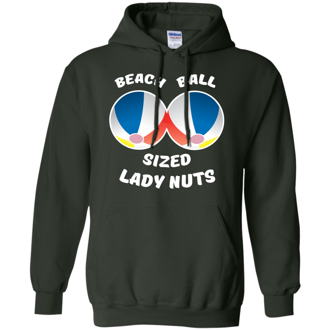 image 133px Beach Ball Sized Lady Nuts T Shirts & Hoodies