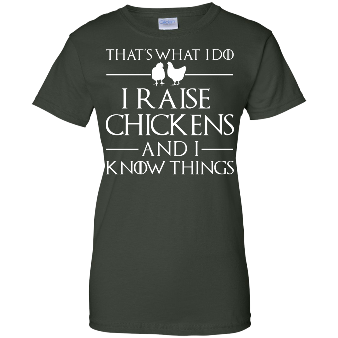 image 146px That's What I Do I Raise Chickens and I Know Things T Shirt