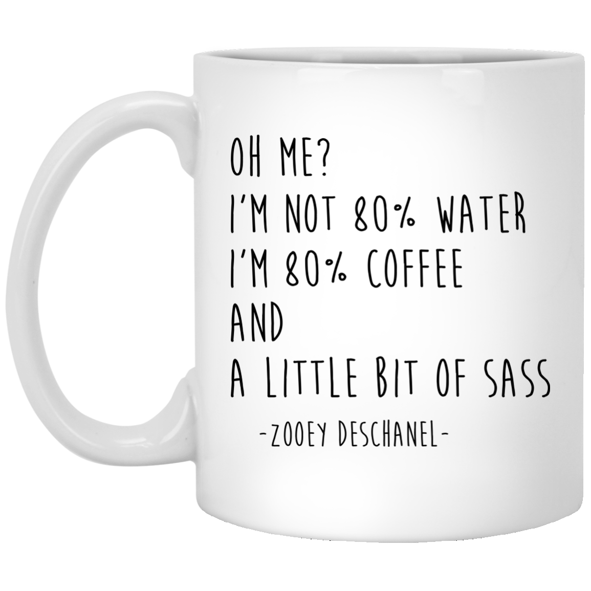 image 148px I'm Not 80% Water I'm 80% Coffee Mug