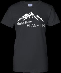 There is no Plannet B - Ladies Custom Cotton - Black