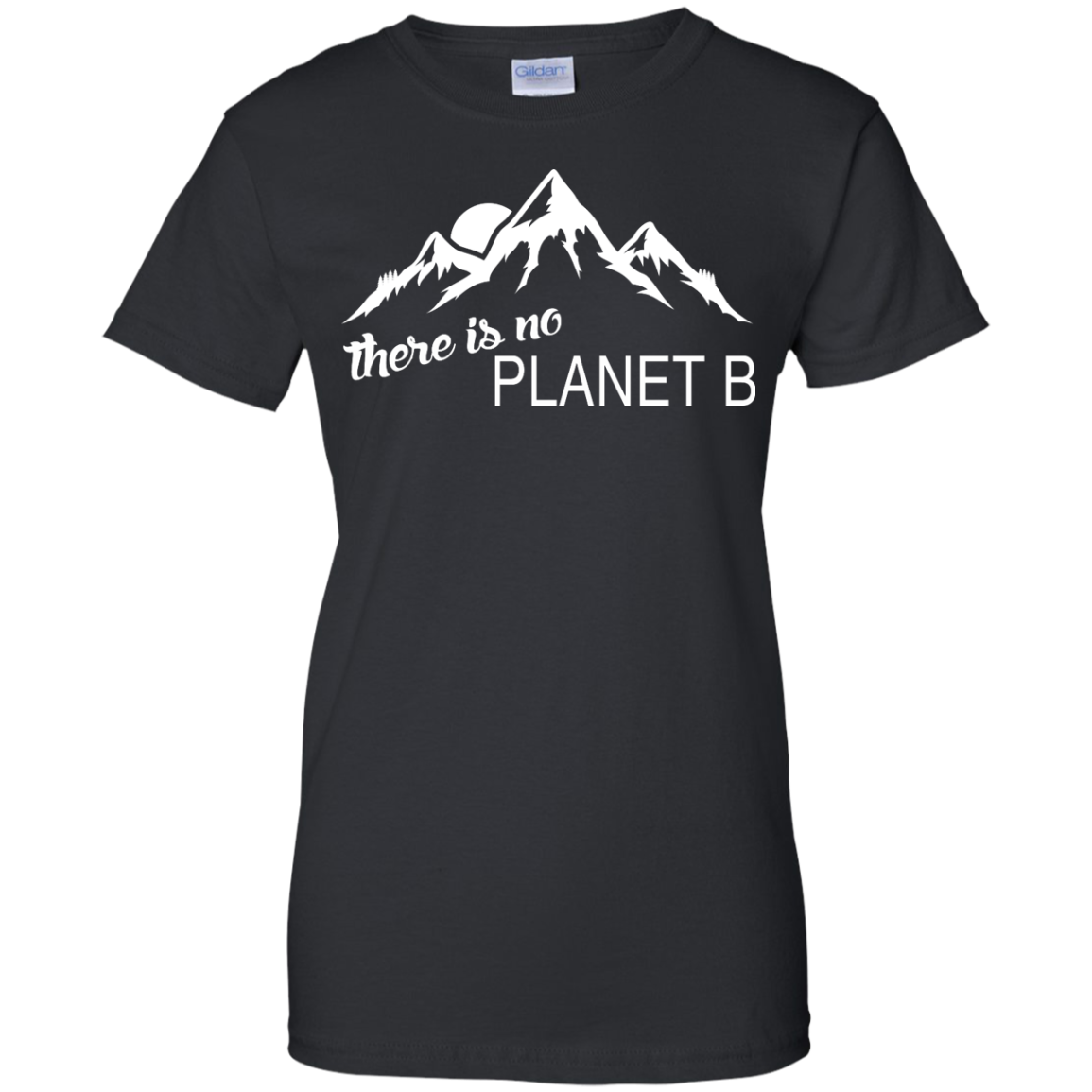 There is no Plannet B - Ladies Custom Cotton - Black